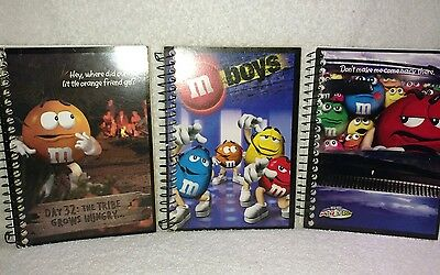 M&M's Lot of 3 Spiral Personal Notebook