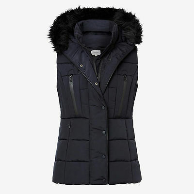 New Seed Heritage RRP $139 size 16 utility puffer vest black this season's