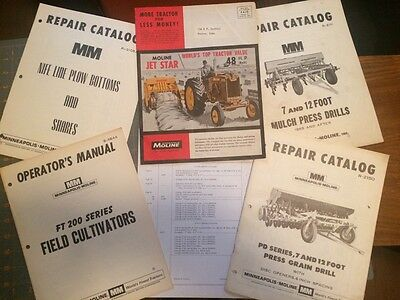 Minneapolis Moline Tractor and Machinery Manuals & Brochure