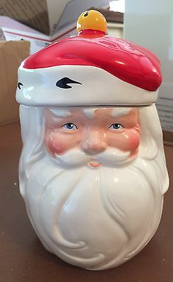 Vintage Santa Clause Cookie Jar/Candy Dish MINT