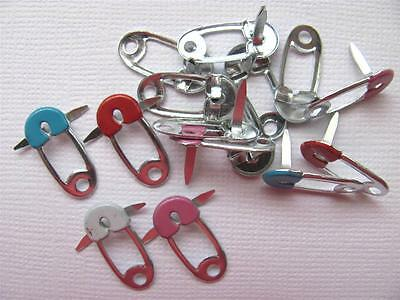 BRADS NAPPY PINS pk of 8 baby split pin craft scrapbooking