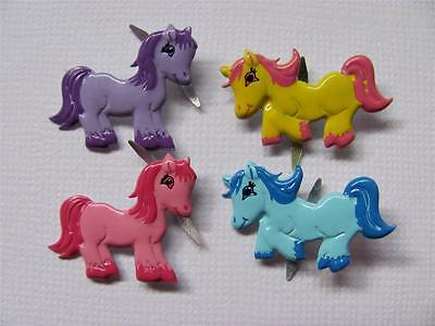 BRADS PRETTY PONIES pk of 8 horse pony coloured split pin craft scrapbooking