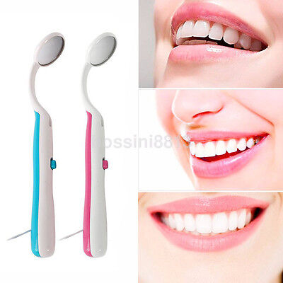 Practical Bright Dental Mouth Mirror with LED Dentist Mirror Lens Authentic UK