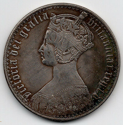 GOTHIC CROWN Queen Victoria 1847...GREAT BRITAIN...................SILVER PLATED