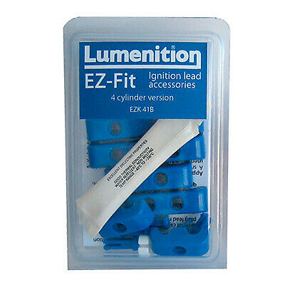 Lumenition E Z Fit Plug Lead Clamps 4 Cylinder Race Rally Track Show Blue