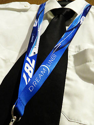 Boeing 787 Dreamliner BIG PLANE Pilot / Crew neckstrap with safety clip Lanyard