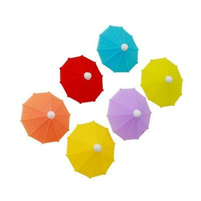 6pcs/Set Umbrella Drink Markers For Wine Glass Cup Wedding Party Favors HOT LG