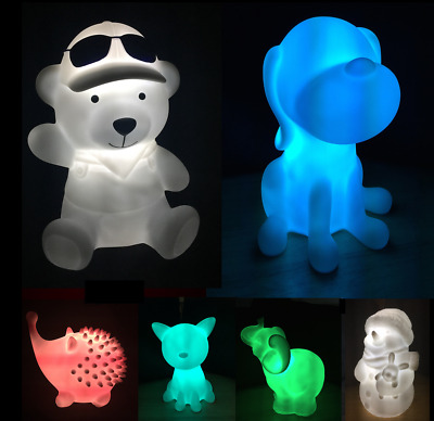 Baby Kids Mood Night Light Led Changable Rainbow Colours Rechargable Battery