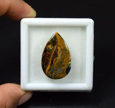 25.40 Cts. 100 % Natural Chatoyant Pietersite Pear Cabochon Loose Gemstones