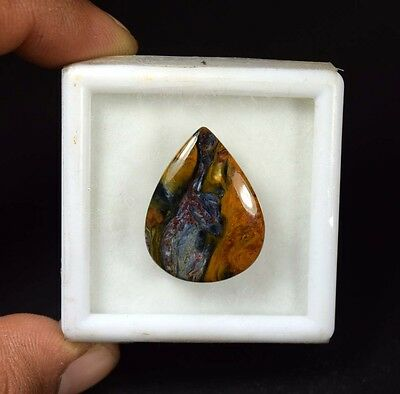 20.90 Cts. 100 % Natural Chatoyant Pietersite Pear Cabochon Loose Gemstones