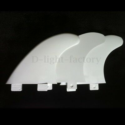 Surfboard Fins FCS White G5 Template Set of 3 Single Fin Replacement Glass Fiber