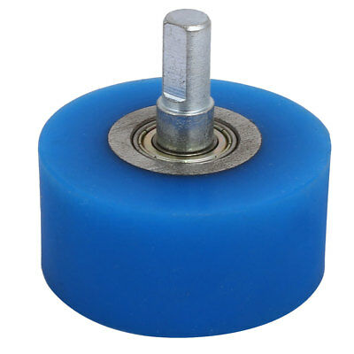 10mm Dia Shaft 60mmx30mm Coating Machine Silicon Rubber Wheel Roller Blue