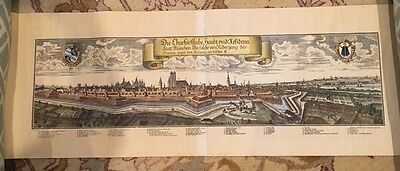 RARE 18th Century Hand Colored Engraving Map MUNICH Prob. WENING (1720)