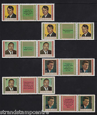 Guinea - 1968 Martyrs - U/M - SG 668-73 GUTTER PAIRS