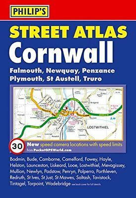 Philip's Street Atlas Cornwall: Pocket Edition Paperback Book The Cheap Fast