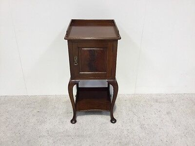 Edwardian Mahogany Bedside Cabinet Rare Shape Not To Be Missed Super Quality