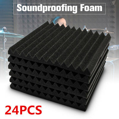 """6 Pack - Acoustic Panels Studio Soundproofing Foam Wedge Wall Tiles 12""""x12""""x1"""""""