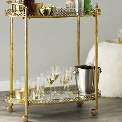 Mercer41 Mirrored Bar Cart