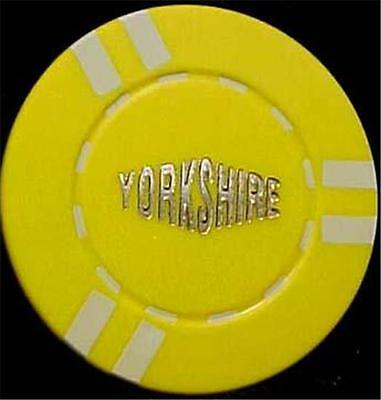 ILLEGAL POKER CHIP-YORKSHIRE $50 CHIP-7140mf