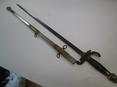 Early Fraternal Sword With Scabbard Makers Mark Cincinnati Named Blade