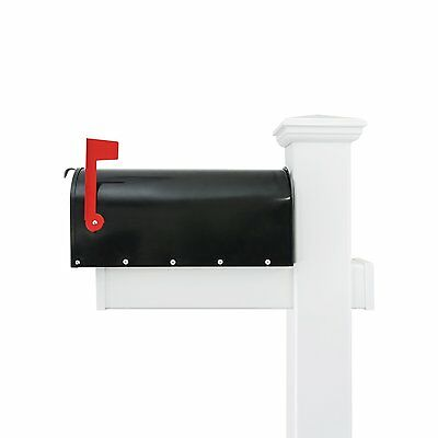 Mailbox With Post White And Black Mailbox Post Combo Aluminum 6 Ft. Tall