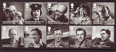 Great Britain 2014 Remarkable Lives Set Of 10 Unmounted Mint, Mnh