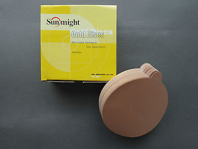 "SUNMIGHT 02316 PSA 6"" NO HOLES Gold Discs 400 Grit 100 pcs Sand Paper with Glue"