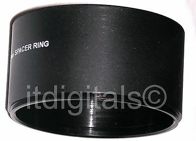 62mm Spacer Ring For Lens Filter Adapter Tube Metal Hood New For Special Effects