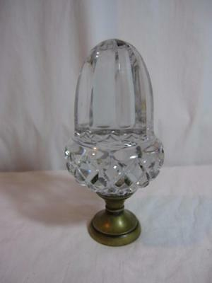 Antique French Crystal Newel Post Finial Topper Top ACORN