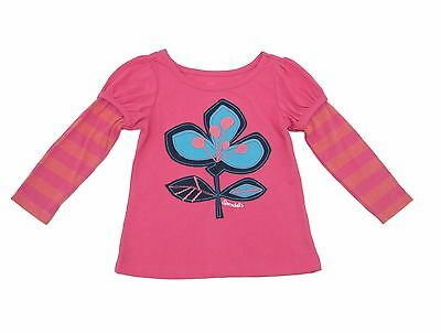 NWT Long Sleeve Pink Baby Girl Top Tee Shirt Cotton Toddler Infant Girls 2t 3t
