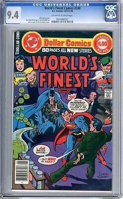 World's Finest   #248   CGC   9.4   NM   off- white to white pages