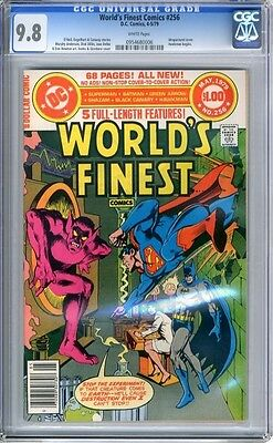 World's Finest   #256   CGC   9.8  NMMT   white pages