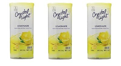 (3 pack) Crystal Light Lemonade Drink Mix (12-Quart), 6-Count Canister