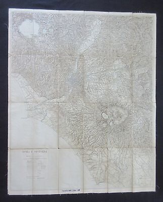 """Antique Map of Rome, Italy - Linen Backed (34 ½"""" x 28 ¼"""")"""