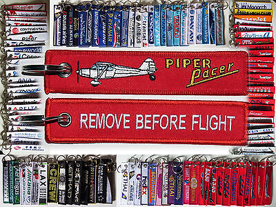 Keyring PIPER PACER PA20 Remove Before Flight keychain tag for pilots