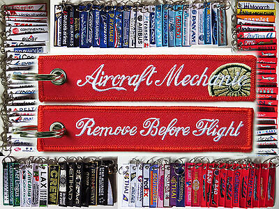 Keyring AIRCRAFT MECHANIC Technician Engineer Remove Before Flight keychain tag