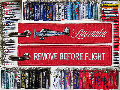 Keyring LUSCOMBE 8 Aircraft Remove Before Flight keychain tag for pilots