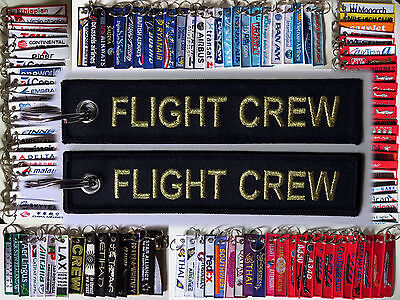 Keyring FLIGHT CREW for Pilot tag keychain tag for pilots