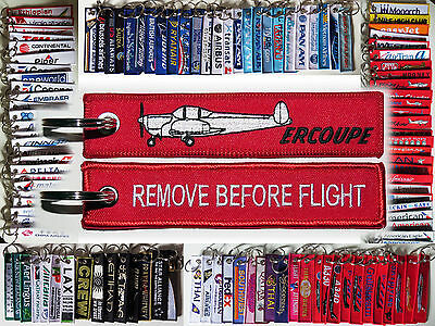 Keyring ERCO ERCOUPE for Pilot Remove Before Flight tag keychain tag