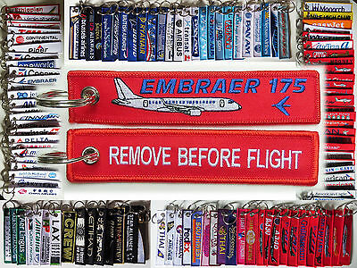 Keyring Embraer E-175 for Pilot Remove Before Flight tag keychain tag