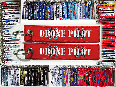 Keyring DRONE PILOT for quadcopter UAV Pilot Remove Before Flight tag keychain