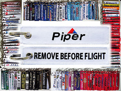 Keyring PIPER AIRCRAFT Remove Before Flight tag keychain