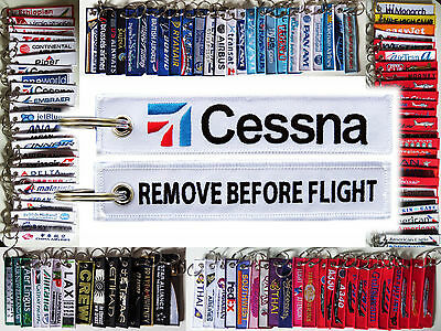 Keyring CESSNA AIRCRAFT Remove Before Flight tag keychain