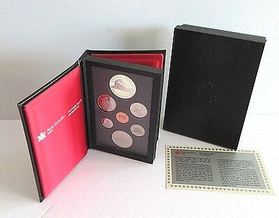 Royal Canadian Mint 1986 Proof Set Silver Nickle Dollars 7 coins Boxed