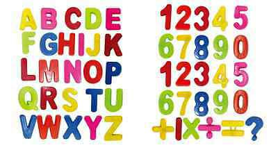 COLORFUL ABC + MATH ALPHABET/ NUMBERS FRIDGE MAGNETS LETTER MAGNETIC 52 pc combo