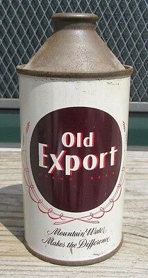Vintage Straight Steel Old Export 12 FL OZ Cone Top Beer Can