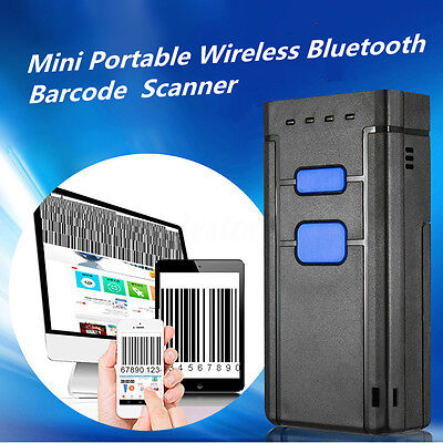 Mini Portable Wireless Bluetooth Barcode Laser Scanner for Apple iOS Android USA