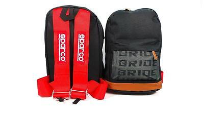 New Jdm Bag Backpack Bride With Red Sparco Harness Drift Race Track