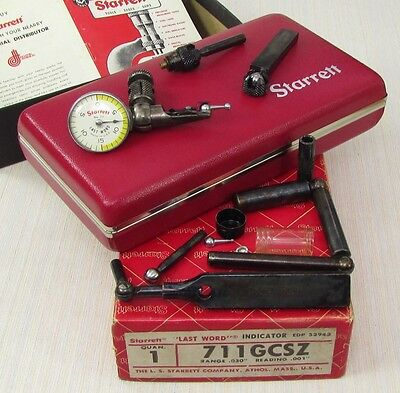 STARRETT 711 GCSZ LAST WORD Dial Indicator, case, loaded, very nice; Machinist