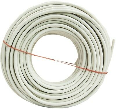 Southwire 100-Ft 18-AWG RG6 White Coax Cable Coil Flame Retardant UV Resistant